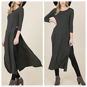 Dresses & Skirts - Charlotte high slit tunic dress
